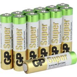 Mikrotužková batérie typu AAA alkalicko-mangánová GP Batteries Super, 1.5 V, 12 ks