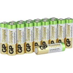 Tužková baterie AA alkalicko-manganová GP Batteries Super, 1.5 V, 16 ks