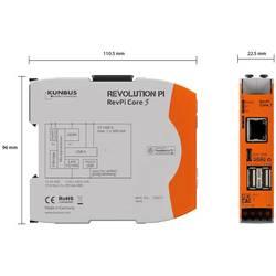 PLC řídicí modul Kunbus RevPi Core 3 PR100257, 12 V, 24 V