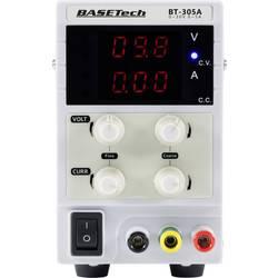Laboratorní zdroj s nastavitelným napětím Basetech 0 - 30 V, 0 - 5 A, 150 W, Počet výstupů: 1 x