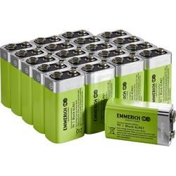 Baterie 9 V alkalicko-manganová Emmerich Industrial 6LR61 500 mAh 20 ks