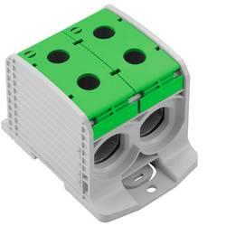 Průchodková svorka Weidmüller WPD 233 2X300/2X300 GN , 2502920000, šedá, zelená, 1 ks