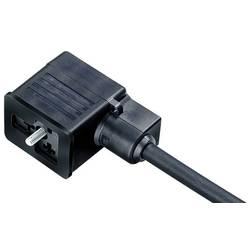 Zásuvka pro magnetický ventil, provedení B, s kabelem, LED Binder 30 5537 500 510 černá, 1 ks
