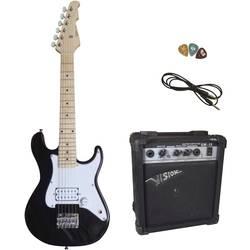Sada elektronické kytary MSA Musikinstrumente Style 3 E-Set černá