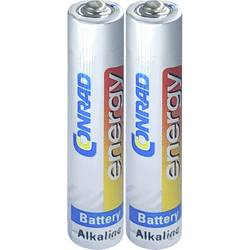 Minibaterie (AAAA) AAAA alkalicko-manganová, Conrad energy LR8, 500 mAh, 1.5 V, 2 ks