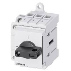 Odpínač Siemens 3LD30301TK11, 16 A, 690 V/AC 1 spínací kontakt, 1 rozpínací kontakt černá 3pólový 16 mm²
