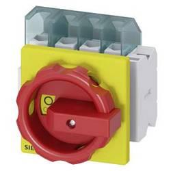 Odpínač Siemens 3LD21032EP53, 25 A, 690 V/AC 1 spínací kontakt, 1 rozpínací kontakt červená, žlutá 4pólový 16 mm²