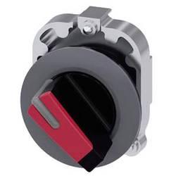 Kloubový spínač Siemens 3SU1062-2DC20-0AA0, otočný přepínač, 1 x 45 °, červená, 1 ks