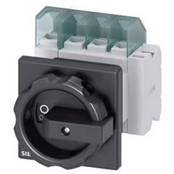 Odpínač Siemens 3LD21542EP51, 25 A, 690 V/AC 1 spínací kontakt, 1 rozpínací kontakt černá 4pólový 16 mm²