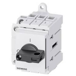 Odpínač Siemens 3LD32301TK11, 32 A, 690 V/AC 1 spínací kontakt, 1 rozpínací kontakt černá 3pólový 16 mm²