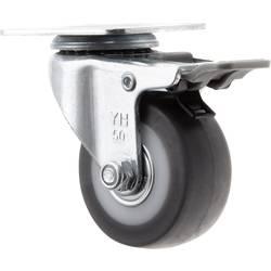 TOOLCRAFT TO-5137869 Otočné kolečko s aretační brzdou a konstrukční deskou 50 mm