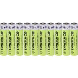 Mikrotužková baterie AAA lithiová Emmerich Industrial FR03 1100 mAh 10 ks
