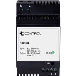 Síťový zdroj na DIN lištu C-Control PSD-302, 1 x, 12 V/DC, 2.5 A, 30 W