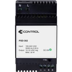 Sieťový zdroj na montážnu lištu (DIN lištu) C-Control PSD-302, 1 x, 12 V/DC, 2.5 A, 30 W