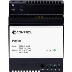 Síťový zdroj na DIN lištu C-Control PSD-303, 1 x, 12 V/DC, 4.5 A, 54 W