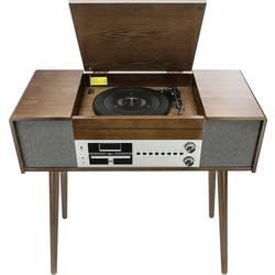 USB gramofon Dual NR 60 DAB, řemínkový pohon, dřevo