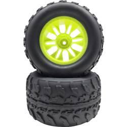 Kompletné kolesá Reely 536073C pre monster truck, 125 mm, 1:10, 2 ks, neónovo žltá