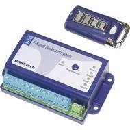 Systém pro bezdrátový přenos Basetech včetně příručního vysílače Max. dosah: 50 m 12 V/DC