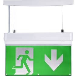 Nouzové osvětlení únikových cest montáž na strop, montáž na stěnu dole vlevo, dole vpravo, nahoře vlevo, nahoře vpravo, vysoko, dolů Sygonix SY-FR040NO SY-3770220