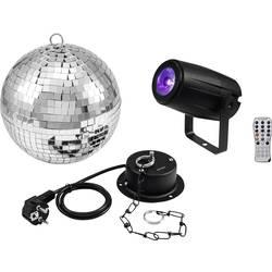 Disco koule, sada s LED osvětlením, s hnacím motorkem Eurolite Vnější Ø 20 cm