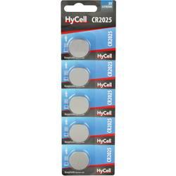 Knoflíkový článek CR 2025 lithiová HyCell CR2025 140 mAh 3 V 5 ks