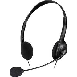 Headset k PC jack 3,5 mm stereo SpeedLink ACCORDO na uši černá