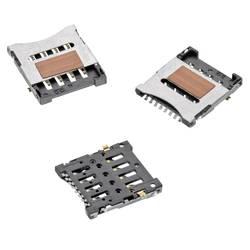 Zásuvka na kartu Micro-SIM Würth Elektronik 693022010811, počet kontaktů 8, 1 ks