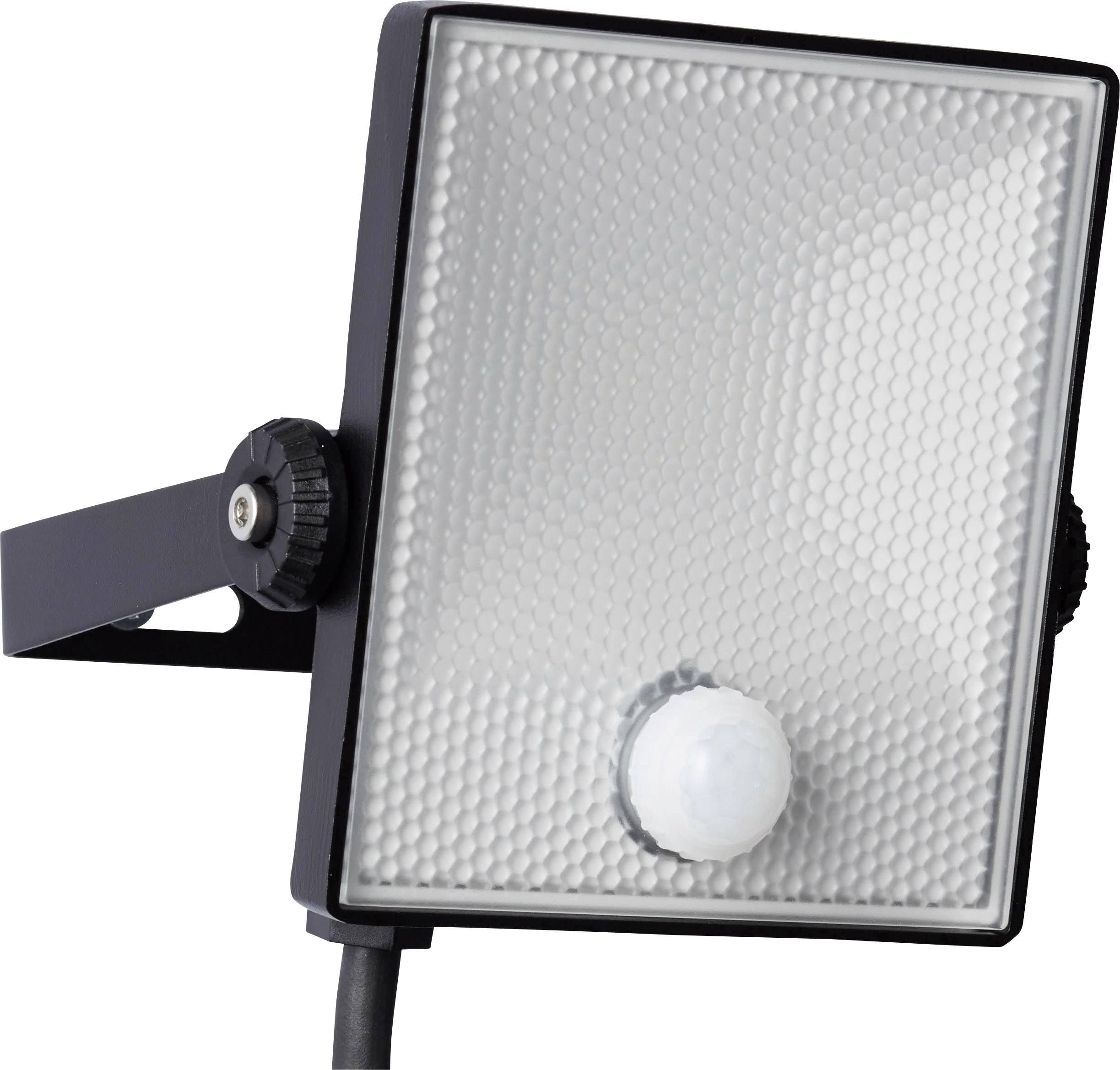 Venkovní LED reflektor s PIR detektorem Brilliant Dryden G96330/06, 10 W, neutrálně bílá, černá