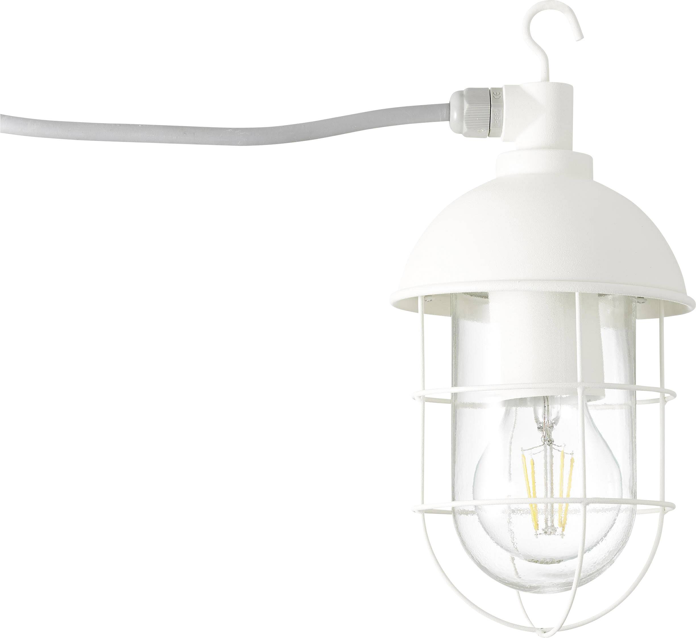 LED lucerna, zahradní osvětlení Brilliant Utsira 96350/05, E27, 60 W, bílá (matná)