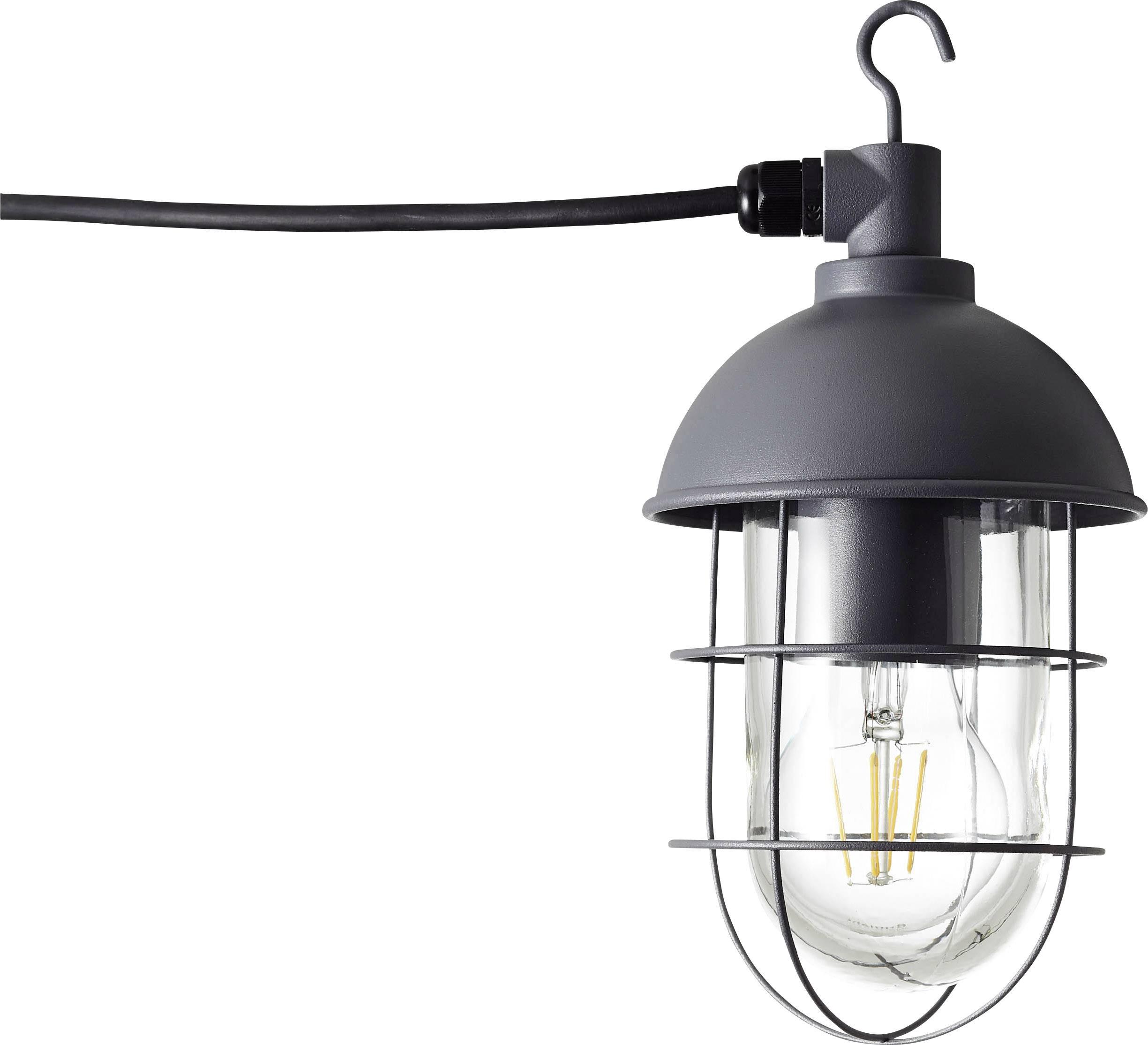 LED lucerna, zahradní osvětlení Brilliant Utsira 96350/63, E27, 60 W, antracitová