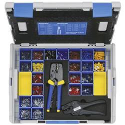 Krimpovací sada modrá, červená, šedá, žlutá, stříbrná Klauke LBOXX230B 2377 díly