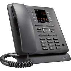 Šňůrový telefon, VoIP Gigaset Pro Maxwell C bluetooth, handsfree, konektor na sluchátka, optická signalizace hovoru, opakované vytáčení TFT černá
