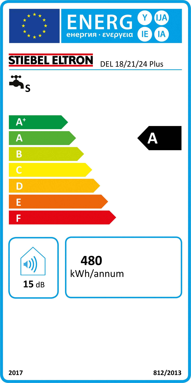 Průtokový ohřívač Stiebel Eltron DEL 18/21/24 Plus 236739 18 kW, 21 kW, 24 kW