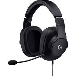 Herní headset USB, jack 3,5 mm na kabel Logitech G Pro na uši černá