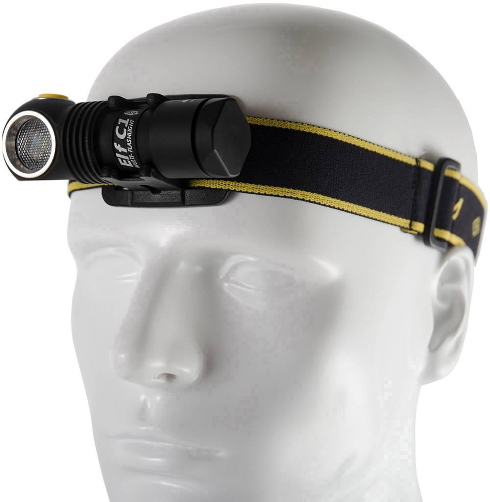 LED čelovka ArmyTek Elf C1 F05001SC, napájeno akumulátorem, 62 g, černá