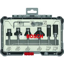 Sada ohranných a hranových fréz, 6 mm dřík, 6 ks Bosch Accessories 2607017468