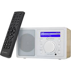 Internetové stolní rádio Renkforce RF-IR-MONO1 WOOD, Bluetooth, AUX, internetové rádio, Wi-Fi, dřevo, bílá