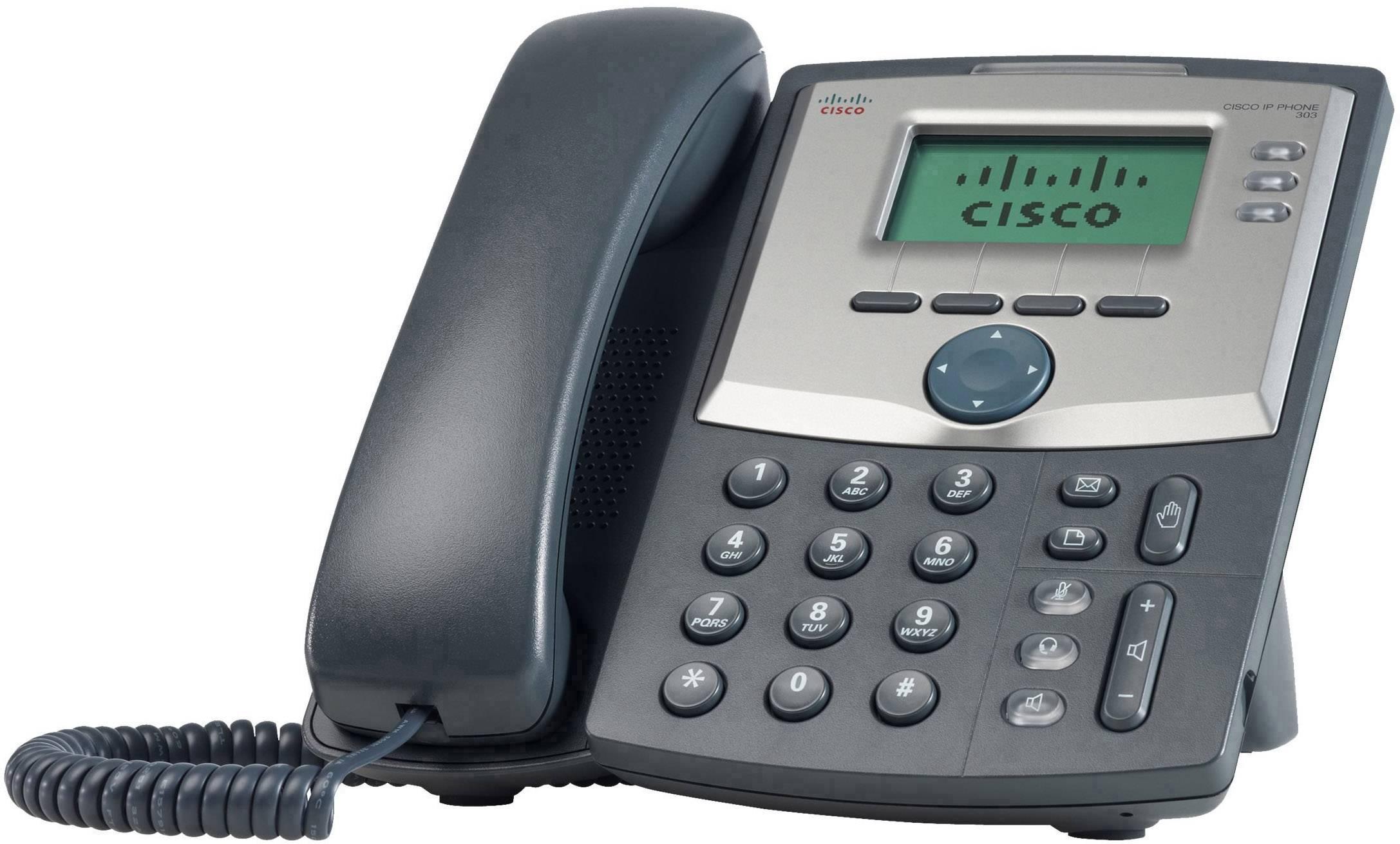 Systémový telefon, VoIP Cisco Cisco Small Business IP Telefon SPA303 - LCD displej černá