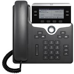 Systémový telefon, VoIP Cisco CP-7821-3PCC-K9= LCD displej černá, stříbrná