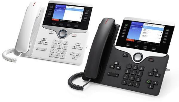 Systémový telefon, VoIP Cisco Cisco IP Phone 8851-3PCC: - SIP, RTCP, R barevný displej antracitová