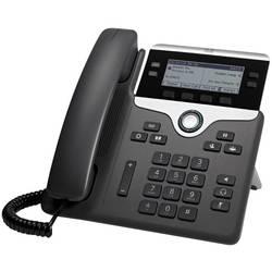 Systémový telefón, VoIP Cisco CP-7841-3PCC-K9= LCD displej čierna, strieborná