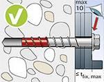 Fischer vorteils-pack ULTRACUT FBS II 10x100 45/35/15 US A4