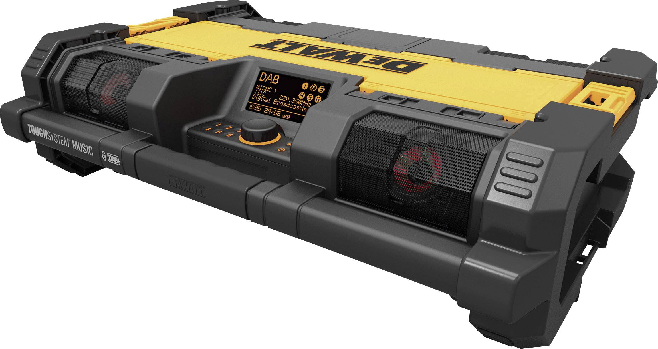 Outdoorové rádio Dewalt DWST1-75659, černá, žlutá