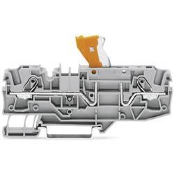 Dvojitá oddělovací svorka WAGO 2006-1675, pružinové připojení , šedá, 25 ks