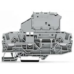 Dvojitá svorka pojistky WAGO 2006-1615, pružinové připojení , šedá, 25 ks