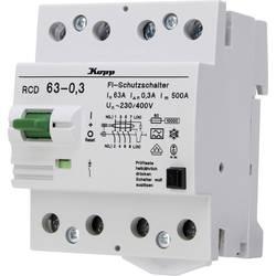 Ochranný proudový spínač Kopp 756343019, 63 A 0.3 A 230 V, 400 V