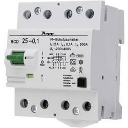 Ochranný proudový spínač Kopp 752541019, 25 A 0.1 A 230 V, 400 V