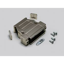 D-SUB pouzdro BKL Electronic 10120232, pólů 25, 44, plast, pokovený, stříbrná, 1 ks