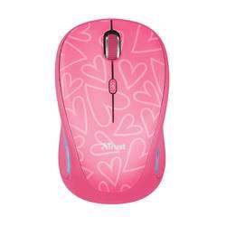 Optická Wi-Fi myš Trust Yvi FX 22336, růžová