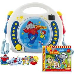 Dětský CD přehrávač X4 Tech Bobby Joey Benjamin Blümchen CD, SD, USB vč. karaoke, včetně mikrofonu, modrá, bílá